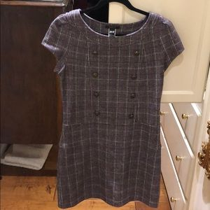 Mango plaid dress with buttons